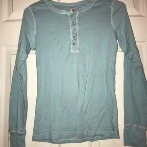 Blue long sleeve pajama top size S